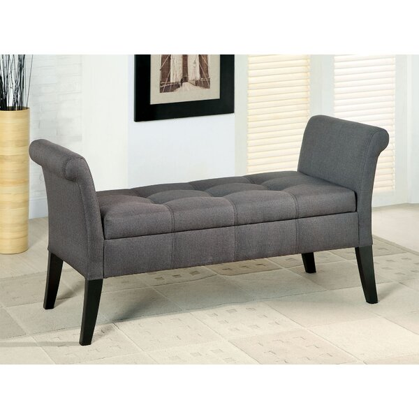 Pipers Upholstered Storage Bench by Alcott Hill
