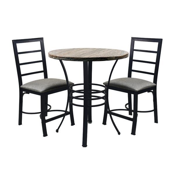 Casillas Bistro 3 Piece Dining Set (Set of 3) by Union Rustic