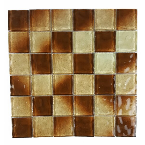 Watermarks 2 x 2 Glass Mosaic Tile in Brown by Abolos