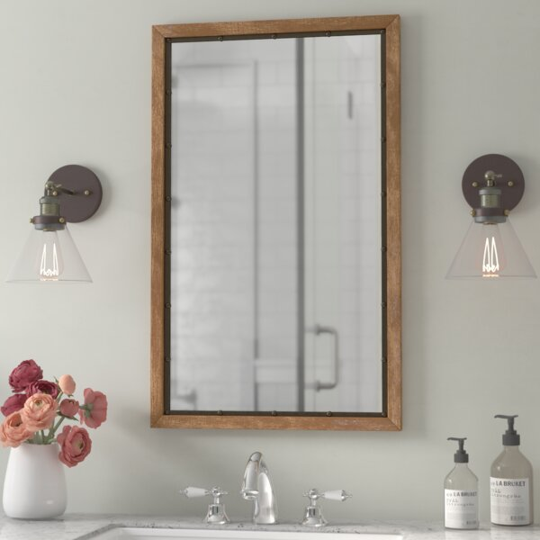 Verduzco Rustic Wood Wall Mirror by Gracie Oaks