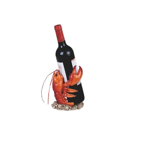 Cahill Lobster Tabletop Wine Bottle Rack by Longshore Tides