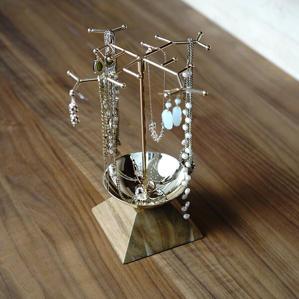 Metal Necklace Jewelry Stand by Foundry Select
