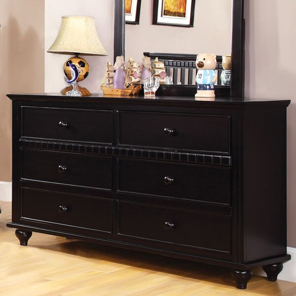 Kennedy 6 Drawer Dresser with Mirror by Hokku Designs