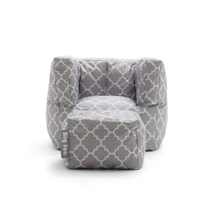 Big Joe 2 Piece SmartMax Cube Bean Bag Set by Comfort Research
