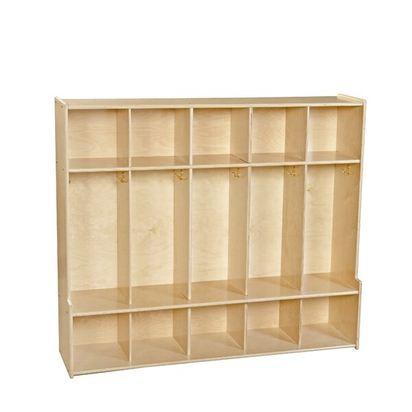 Clarendon 5 Section Coat Locker by Symple Stuff