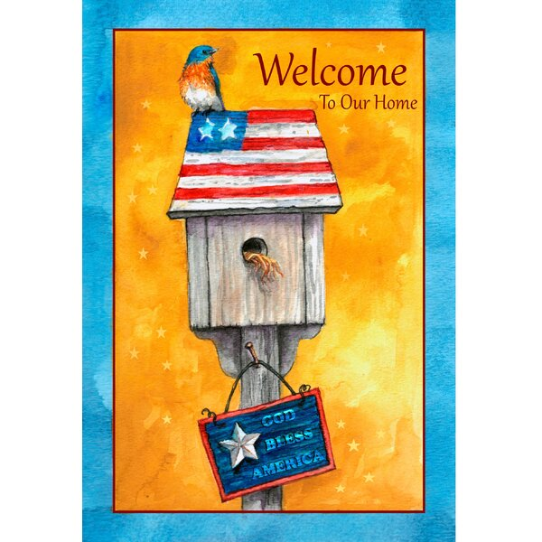 Patriotic Bluebird Garden Flag by The Cranford Group