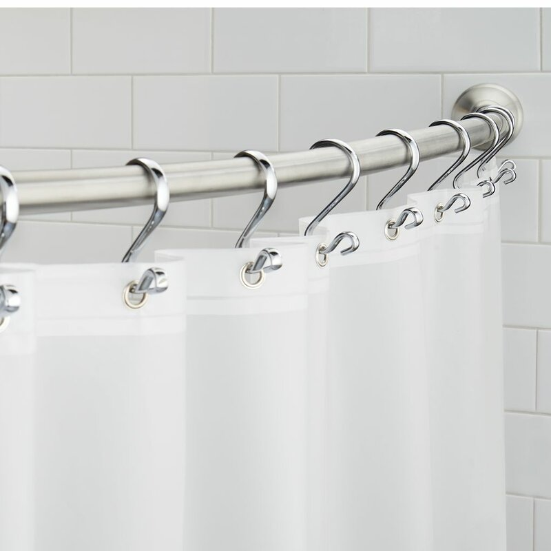 Wall Mount Curved Fixed Shower Curtain Rod