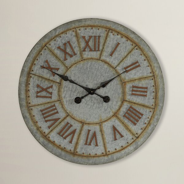 Oversized 32 Galvanized Wall Clock by Trent Austin Design