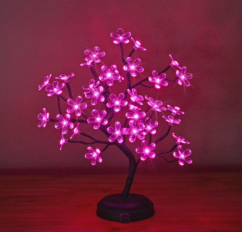 String Fairy Lights Home Garden Led Black Tabletop Cherry Blossom Bonsai Tree With 60 White Lights Topografiapv Cl