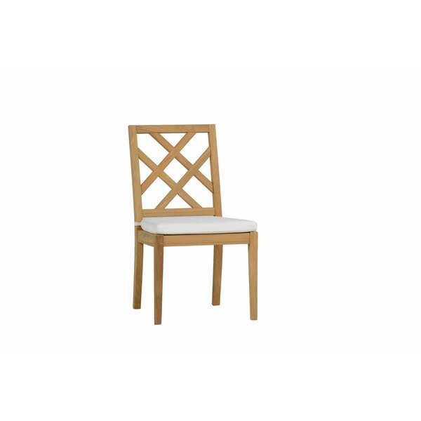 Haley Teak Patio Dining Chair with Cushion (Set of 2) by Summer Classics