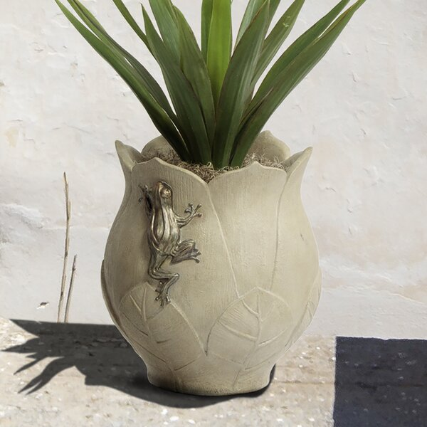 Pali Lotus Cylindrical Plastic Pot Planter by Bombay Outdoors