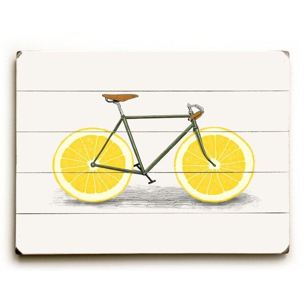 Lemon Zest Graphic Art Print on Wood by August Grove