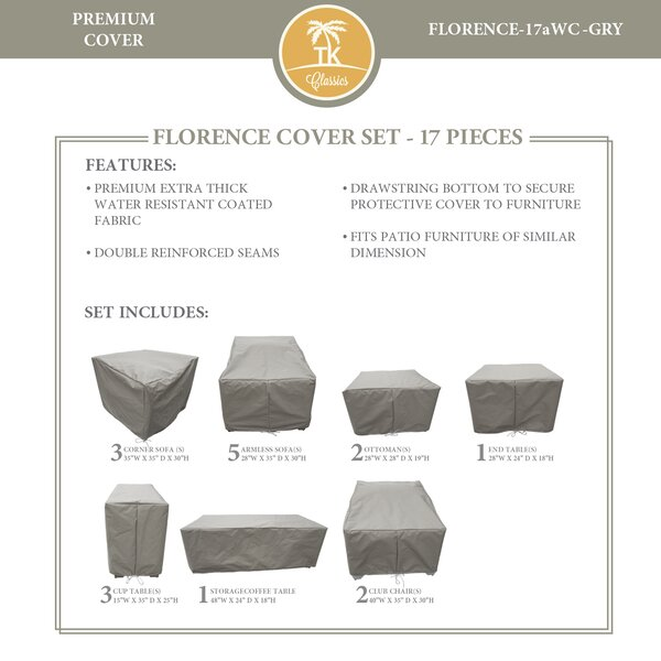 Forence 17 Piece Water Resistant Patio Furniture Cover Set by TK Classics