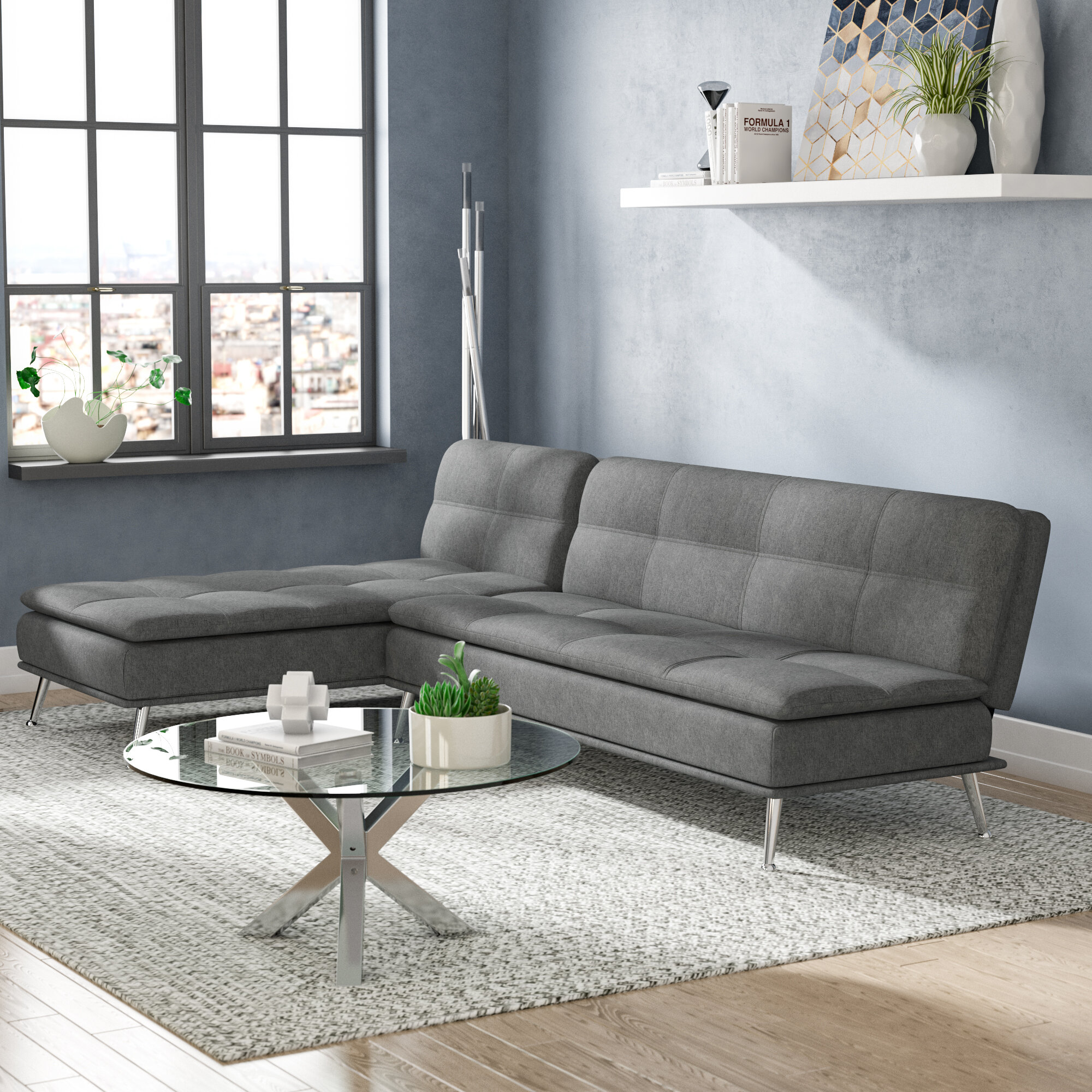 Peachy Rasco Reversible Sleeper Sofa Bed Pabps2019 Chair Design Images Pabps2019Com