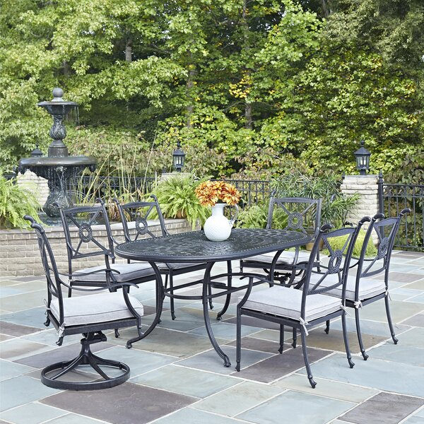 Lansdale 7 Piece Dining Set with Cushions by Darby Home Co