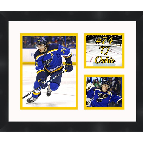 St Louis Blues TJ Oshie 74 Photo Collage Framed Photographic Print by Frames By Mail