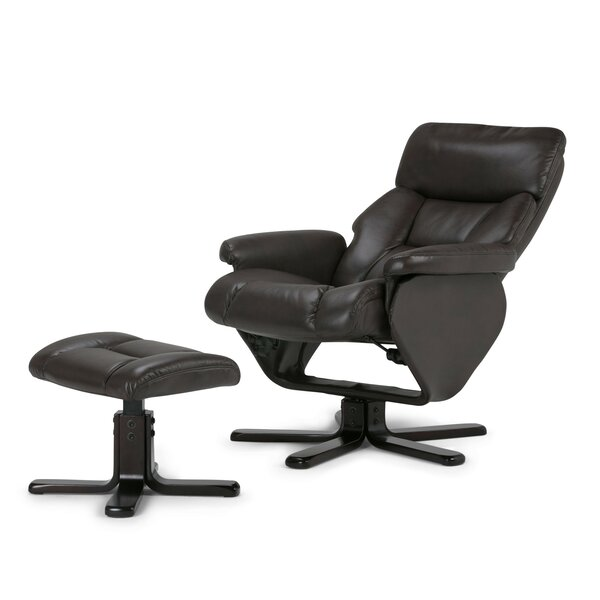 Whitman Manual Swivel Recliner With Ottoman by Simpli Home