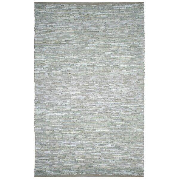 Sandford Flatweave Cotton Grey/White Area Rug by Latitude Run