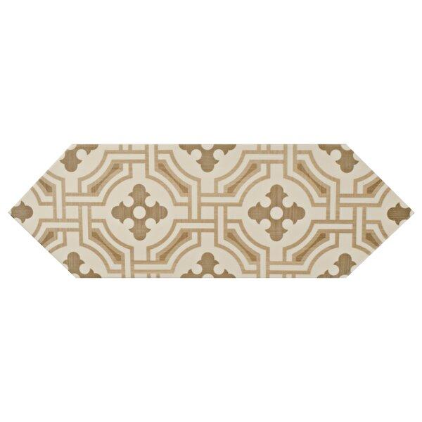Volant 4 x 11.75 Porcelain Field Tile in Beige by EliteTile