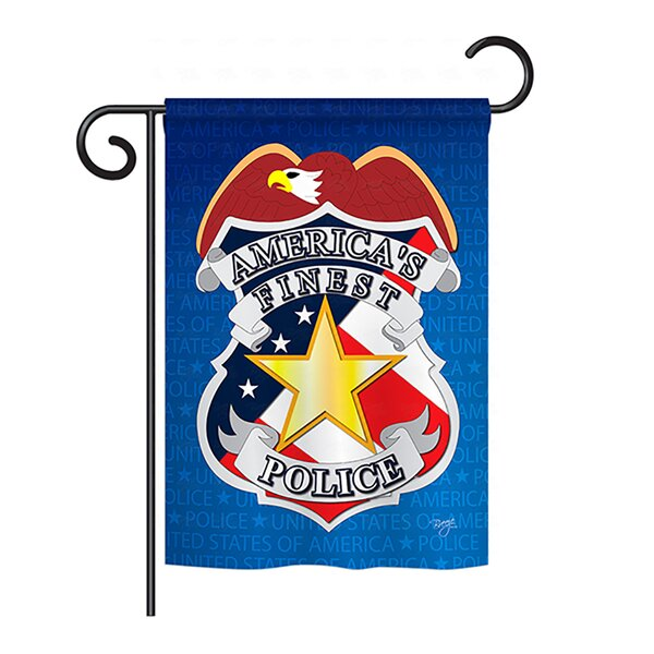Police 2-Sided Vertical Flag by Breeze Decor
