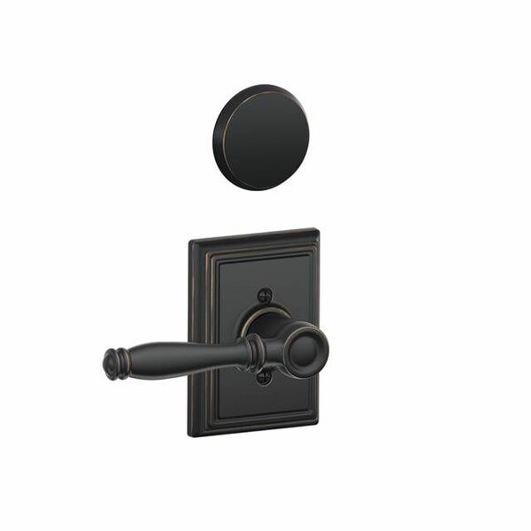 Interior Non-Turning Birmingham Lever and Interior Inactive Deadbolt Thumbturn with Addison Trim by Schlage