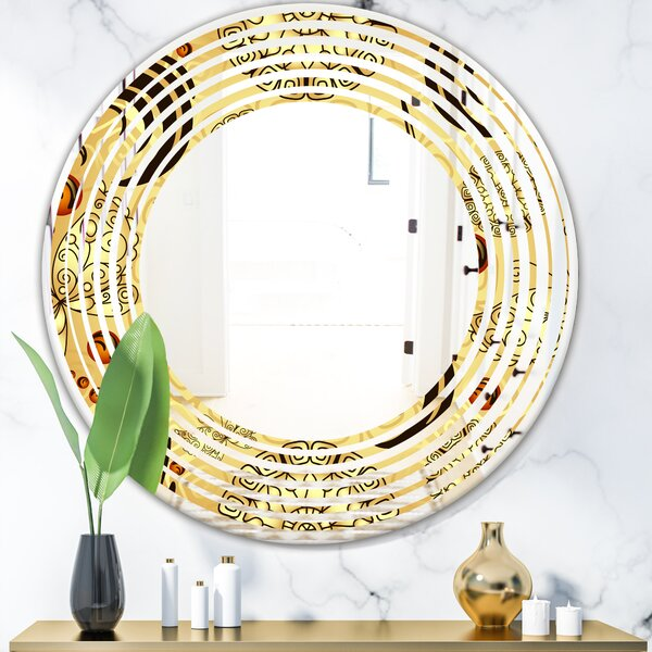 Wave Luxury Pattern I Glam Frameless Wall Mirror