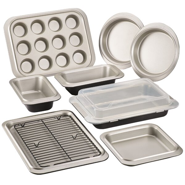 10 Piece Non-Stick Two-Tone Steel Bakeware Set by Anolon