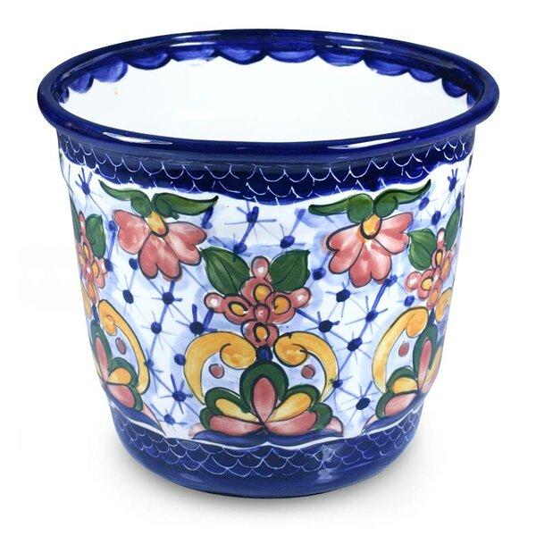 Douglass Geraniums Ceramic Pot Planter by Charlton Home