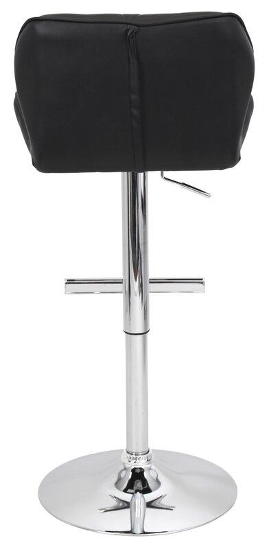 Orren Ellis Aceves Adjustable Height Swivel Bar Stool