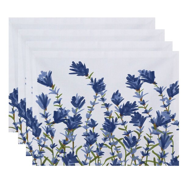 Orchard Lane Lavender Floral Placemat (Set of 4) by Alcott Hill