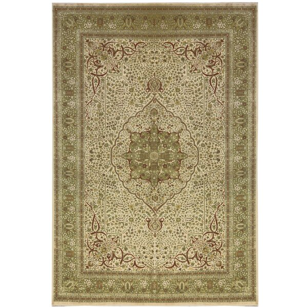 One-of-a-Kind Hand-Knotted Beige 12'1 x 17'2 Wool Area Rug