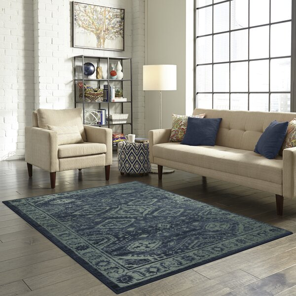Filip Blue/Green Area Rug by Bloomsbury Market