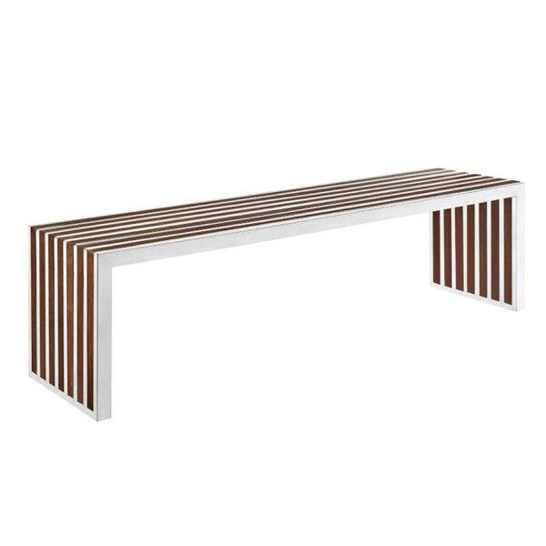 Dabria Metal/Wood Bench By Orren Ellis