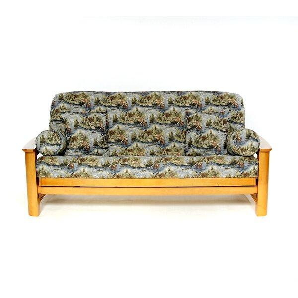 Gone Fishing Box Cushion Futon Slipcover by Lifestyle Covers