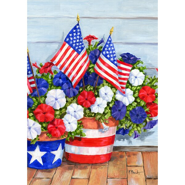 Patriotic Pansies 2-Sided Garden flag by Toland Home Garden