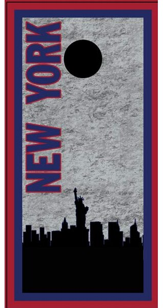 New York Skyline 2 Cornhole Board by Lightning Cornhole