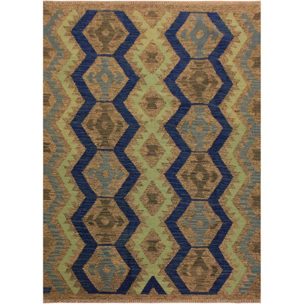 One-of-a-Kind Aalborg Hand-Woven Gray/Blue Area Rug by Isabelline