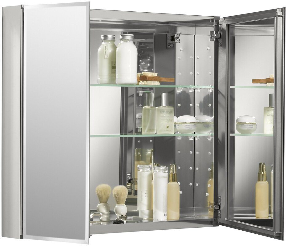 K Cb Clc3026fs Kohler 30 X 26 Aluminum Two Door Medicine Cabinet With Mirrored Doors Beveled