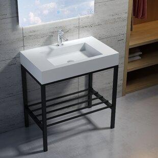 Deals Wolkeseiben Stone 31 Console Bathroom Sink By InFurniture