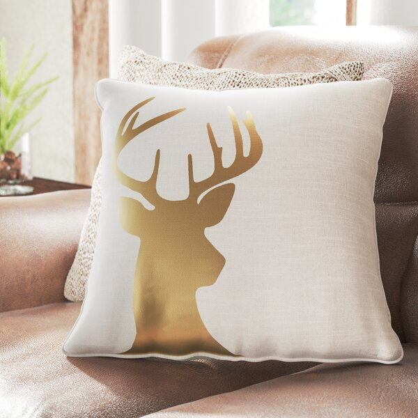 Pirtle Deer Cotton Pillow Cover by Loon Peak