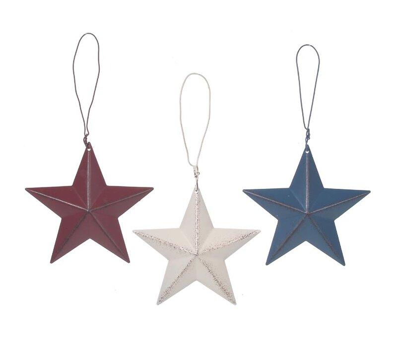August Grove 3-D Tin Star Wall Décor | Wayfair