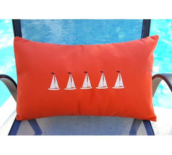 Sailboats Sunbrella Lumbar Pillow