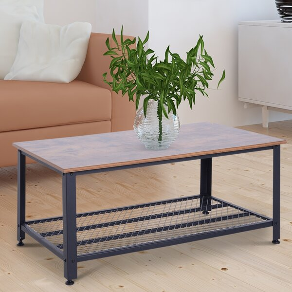 Tobey Metal And Wood Grain Coffee Table By Williston Forge Today Sale Only