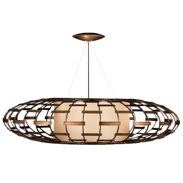 Entourage 3 - Light Unique / Statement Geometric Chandelier By Fine Art Lamps