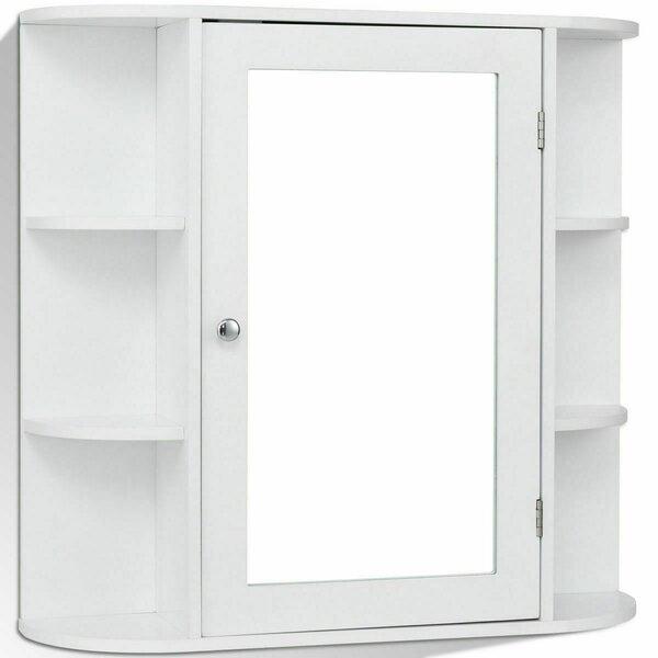 26'' W x 25'' H x 6.5'' D Wall Mounted Bathroom Cabinet