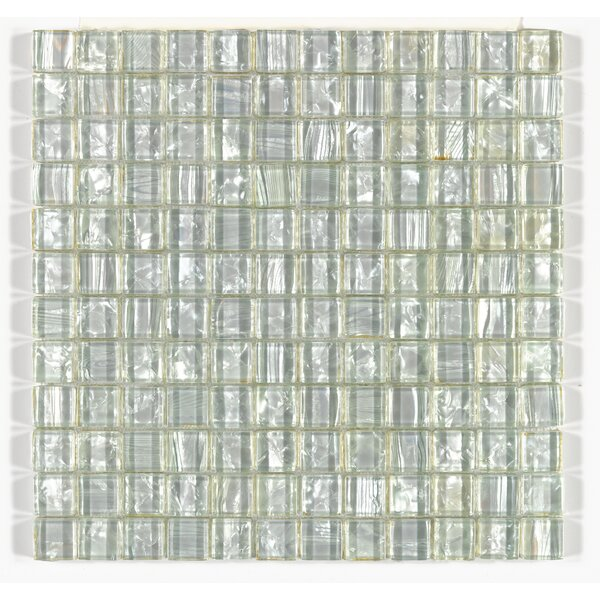 Accent Statements 12 x 12 Glass Mosaic Tile in Pearl Shimmer by Mohawk Flooring