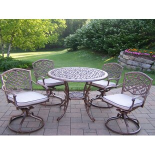 Mississippi Swivel 5 Piece Dining Set with Cushions ByOakland Living
