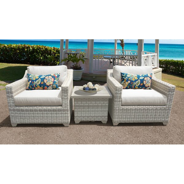 Genevieve 3 Piece Sofa Seating Group with Cushions by Rosecliff Heights