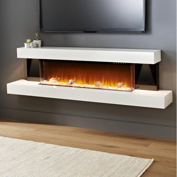 Tanessa Gloss Sides Wall Mounted Electric Fireplace by Latitude Run Latitude Run