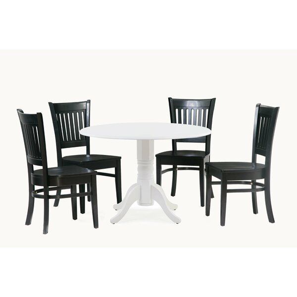 Reider 5 Piece Drop Leaf Solid Wood Dining Set By Charlton Home 2019 Online